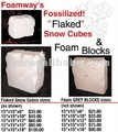 Foamway Snow Cubes