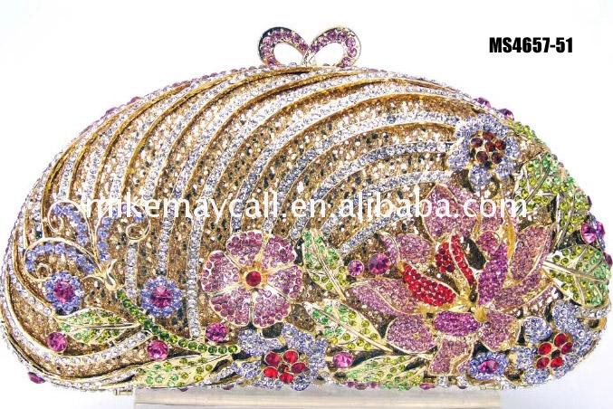 Floral crystal purse bags and rhinestone evening of Bottom Price