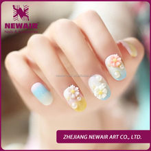 Artificial Nail Arts With 3D Fresh Flowers , 3D in Faishion Style Special for Girls, Elegant Nail Art Tip