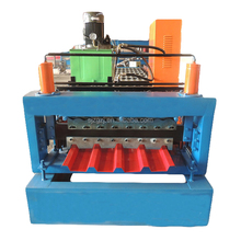 Double Layer Color Steel Trapezoidal Roof panel RollForming Machine/mosaic tile making machine