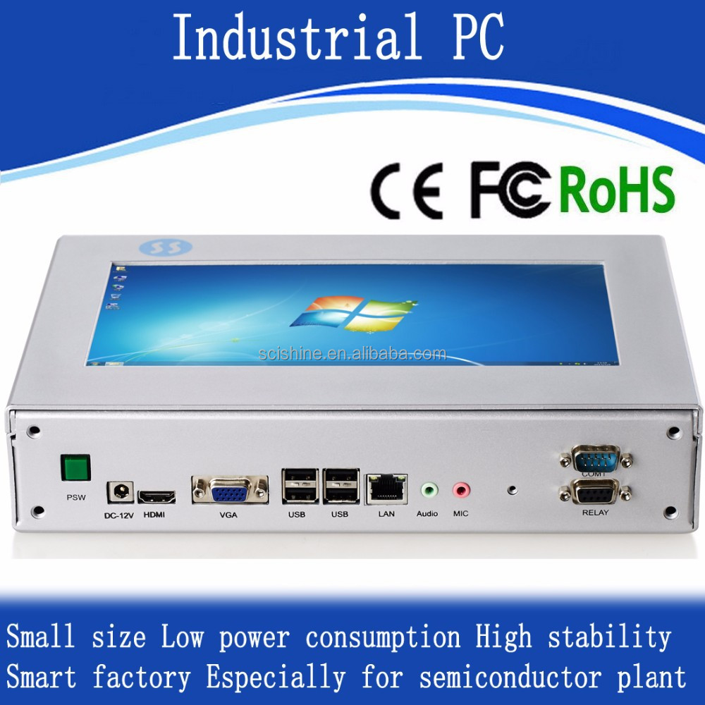 Low consumption touchscreen mini pc windows embedded