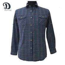 Plus size new design plaid casual men fashion cotton checked shirts