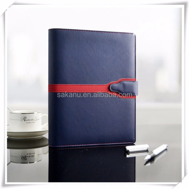 Customize A5 PU faux genuine leather bound journals books