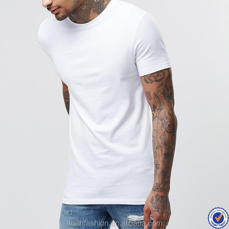 95 cotton 5 elastane t-shirt wholesale slim fit short sleeve bulk plain white t-shirt