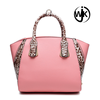 Free sample new product branded pink fashion bag ladies handbag 2016,PU leather tote bag for women