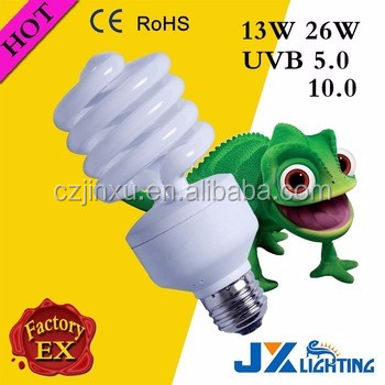 13W 26W energy saving reptile uvb lamp UVB5.0 10.0 15.0 lighting bulbs
