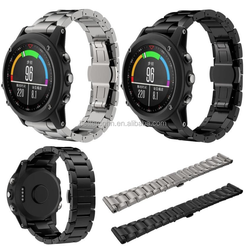 Good Quality Titanium Steel Bracelet Wrist Strap Smart Watch Band For Garmin Fenix 3 / HR Wristband