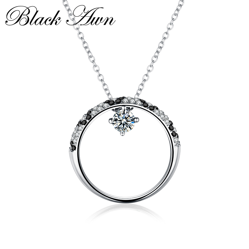 [BLACK AWN]925 Sterling Silver Fine Jewelry Trendy Engagement Necklace for Women Necklace Pendants <strong>P101</strong>