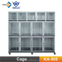 KA-505 Portable Professional Metal Dog Kennel Dog Cage with wheels