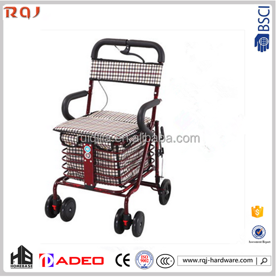 Original supermarket shopping trolley cart for the old man made in china