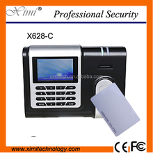 Multi language support color TFT screen employees fingerprint time attendance machine with ZK software and webserver function