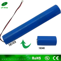 16340 3s lithium ion Cylindrical 11.1v 1000mAh masturbator male battery