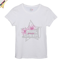 Cheer Star O-Neck Woman Rhinestone T-Shirt