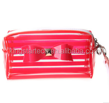 Clear plastic mini cosmetic bags with zipper