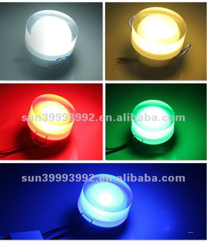 5W Acrylics Round LED Ceiling Down Light Fixture Lamp