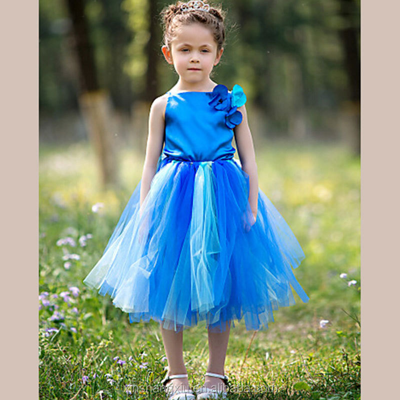 Summer Formal Ball Gown Dress Girl Birthday Outfits Tulle Flower Dresses