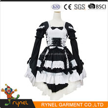 PGWC2279 High Quality New Lolita Maid Dress Waitress Uniform Costume Black Anime Cosplay Halloween Costume Sexy