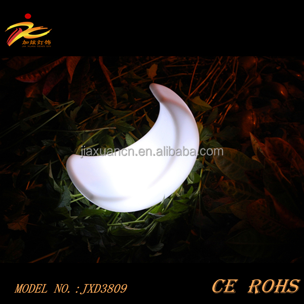 Outdoor waterproof led home new year decoration/garden decorative lamp moon shaped mood light