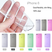 china wholesale anti slip electroplating sublimation blank crystal clear transparent mobile phone case for iphone 6