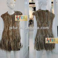 New product rabbit fur with raccoon fur vest lady vest