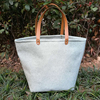 Wholesale Cheap Burlap Shoulder Tote Bag Summer Beach Tote Bag