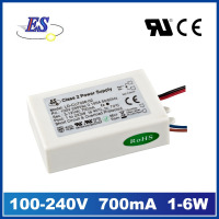 6W 700mA 12 Volt AC DC Switching Mode Power Supply with CE UL CUL IP65