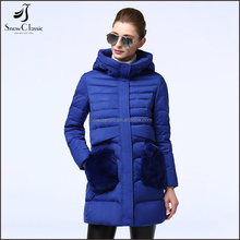 Custom european new style packable down jacket for winters woman