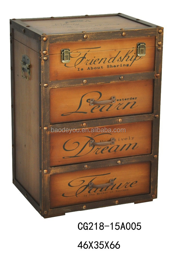 indian style A4 folder fashion antique cabinet furniture