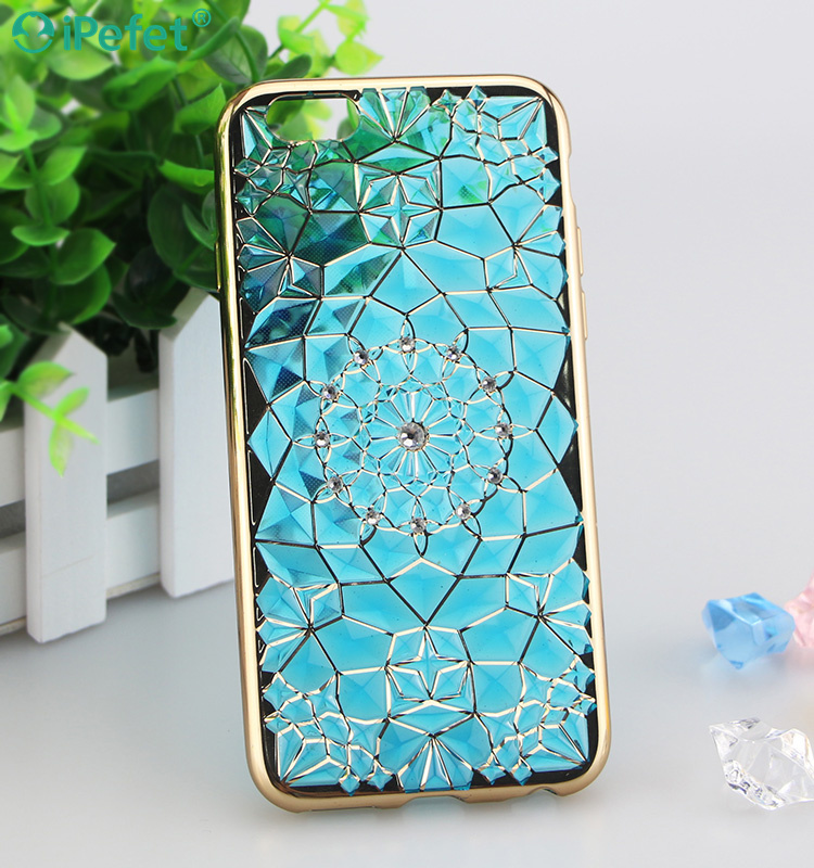 3D Bling Crystal clear soft tpu mobile phone case for many phone models