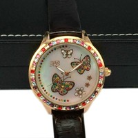 2016 Cute Cartoon Fashion Bule Vogue Lady Watch For Kids Wholesale