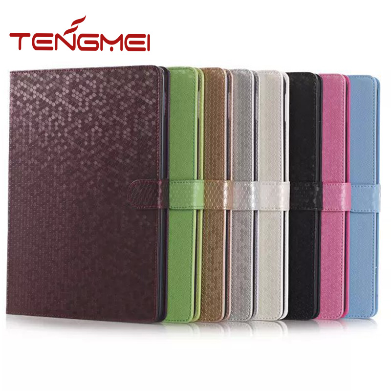 2016 hot new product for ipad air diamond grain leather for ipad air 2 case