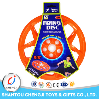 High quality 2016 cheap outdoor toy plastic flying led frisbee