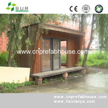 small prefabricated wooden garden house