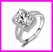 KDA3839 Wholesale 925 sterling silver wedding square stone ring designs