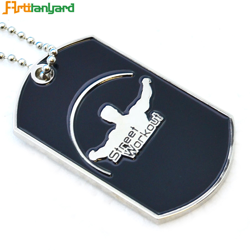Promotional wholesale military sex girl and animal dog tags for men