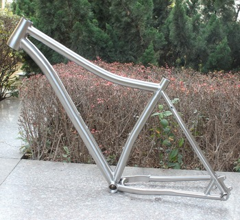 Custom titanium fat bicycle frame with 142 dropouts XACD made ti beach bike frame Factory direct supply ti bikes frame