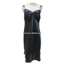 New Design White Polka Dot Decoration Sexy Ladies Satin Nightgown With Lace