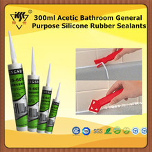 300ml Acetic Bathroom General Purpose Silicone Rubber Sealants