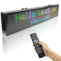 New Hit Product RGB 2 Lines Illuminated Letters Wireless Display Message LED Sign