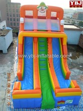 clown theme giant inflatable floating water slide for amusement park