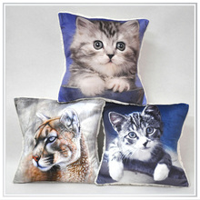 customized cat design digital printed on 100% cotton cushion