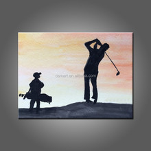 The Man Favorite Outdoor Sport Golf Oil Painting On Canvas Hand Painted Best Living Room Wall Artwork By Professional Painter