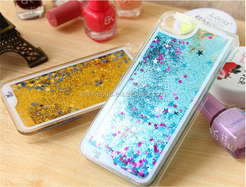 best selling star quicksand phone case had plastic cell phone cases for iPhone 6s 4.7 for iPhone 6s plus 5.5 for Sumsung
