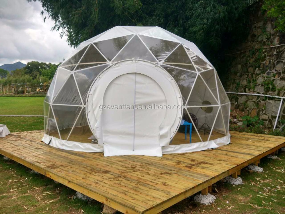 Guangzhou Factory eco dome tent, galvanized steel frame dome tent