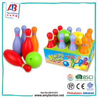 Kids sport play toys plastic bowling pins set for sale