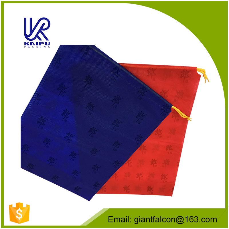 China manufacturer 80gsm non woven fabric drawstring bags with best quality and low price