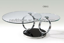modern round cheap glass low coffee table