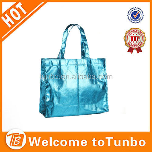 Fashion design pp non woven luxury loop handle gloss laminated carrier bag