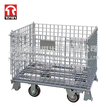 Supplier Large  Capacity Folding Steel Wire Mesh Container SWK9011-B