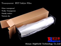 160G Transparent Inkjet PET Printing Film For Silk Screen Printing